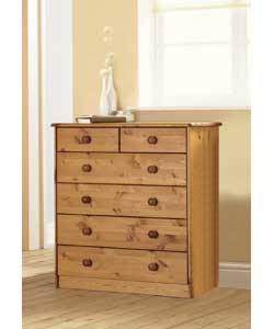 4 Wide Plus 2 Narrow Drawer Chest - Pine