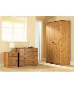 Bedroom Package - 2 Door 3 Piece - Pine