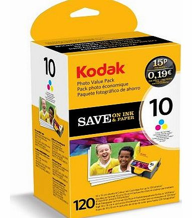 Inkjet / Print Cartridge Photo Value Pack - Series 10 - Colour Ink & Paper