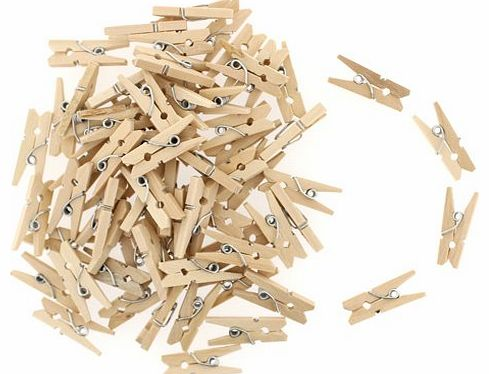 Kurtzy 100 Pack of Craft Hobby Clothes Mini Wood Wooden Pegs by Kurtzy TM