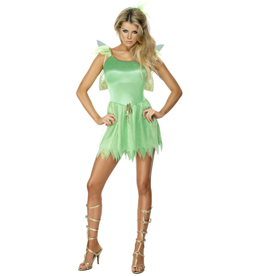 Green Tinkerbell Fancy Dress Costume