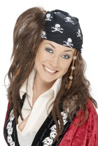 Pirate Wig - Dreadlocks and Bandana