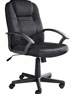 Large Gas Lift Managers Office Chair - Black