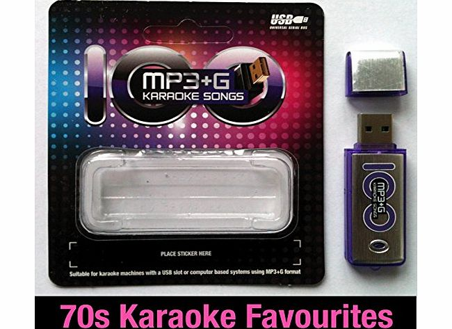 Laser Direct Karaoke USB Song Stick - 100 MP3 G Karaoke Favourites from the 1970s - For Karaoke Machines with a USB Drive Slot