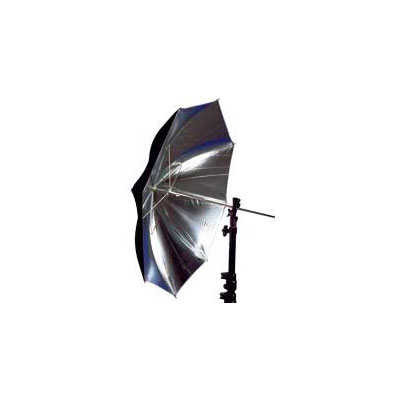 80cm Soft Silver Collapsible Umbrella