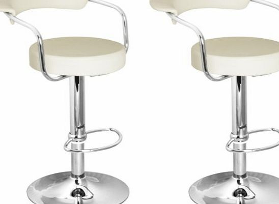Lavin Lifestyle Brand New Pair of Cream Faux Leather Kitchen/Bar stools by Lamboro
