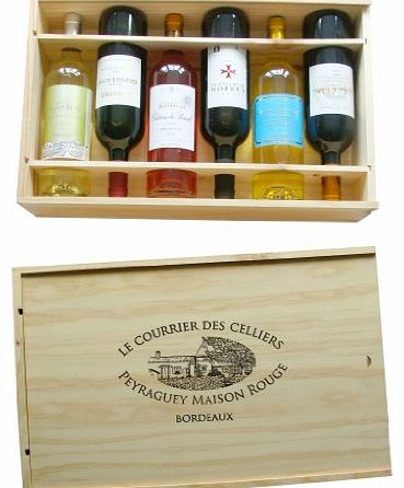 Aromes de Bordeaux French Wooden Wine Box Gift Luxury Hamper, Christmas Present, Corporate Gift