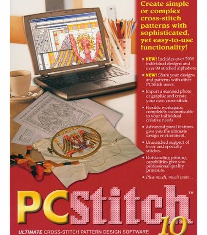 Leadoff PC Stitch Pro Cross Stitch Software-
