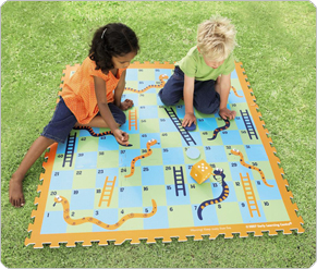 Leapfrog Giant Snakes and Ladders