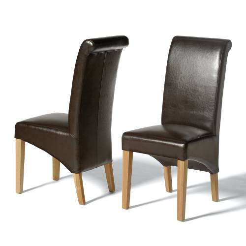 Leather Dining Chairs Winslow Rollback Brown Leather Chair