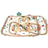 GIANT 180 PIECE WOODEN TRAIN and TRACK SET BRIO SIZES