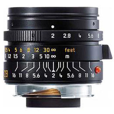 Summicron-M 28mm f/2 Aspheric Lens - Black