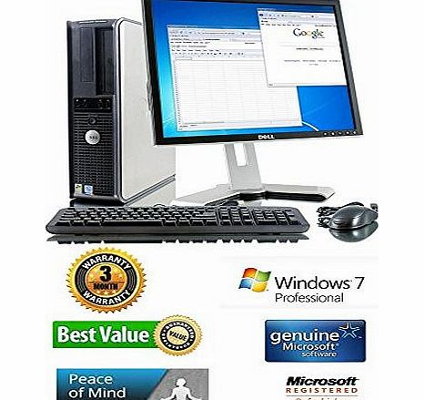Window 7 Pro-Super Fast-Multitasking-Dell Optiplex GX Series Core 2 Duo Processor, Fast 4GB Ram, 160 Large Sata Harddrive, with Execllent 17 LCD Monitor, Wifi Enabled, Free Keyboard and Mouse. A great