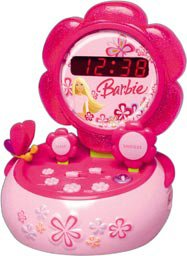 Barbie Real Electronic Alarm Clock