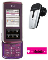 KF600 Purple + Free Bluetooth Headset T-Mobile Pay as you Go Talk and Text