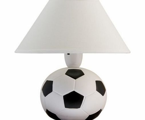 HOME DECOR 40 W CERAMIC BEDSIDE DESK SIDE TABLE CLASSIC FOOTBALL LAMP WITH WHITE SHADE PERFECT GIFT