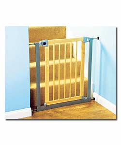 Lindam Easy Close Pressure Fit Steel/Beech Safety Gate