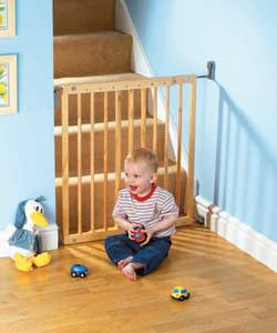 Lindam Easy Fit Extending Wooden Gate