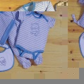 LITTLE BY LITTLE boys sleepsuit  bodysuit  hat  booties and bib