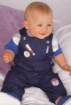 LITTLE BY LITTLE boys two-piece dungaree set