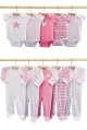 LITTLE BY LITTLE pack of ten boys sleepsuits/bodysuits