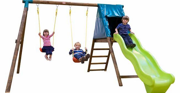 Tilberg Slide Swing Set with Themed