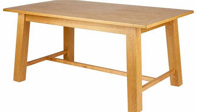 Living wiltshire oak veneer 150cm dining table review compare prices buy online - Oak veneer dining table ...