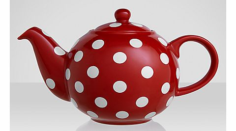 Red and White Spot Teapot
