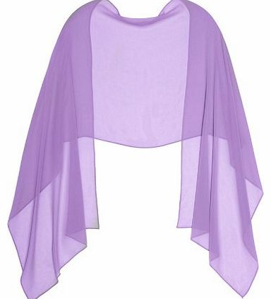 LondonProm LILAC CHIFFON Stole Ideal for Evening Wear , Wedding , Parties , Bridesmaid , Bridal Wear or Bride o