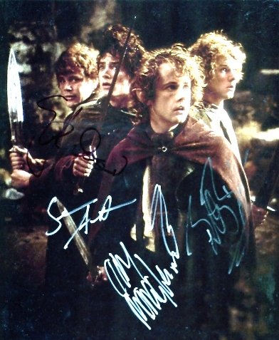 - THE 4 HOBBITS SIGNED 10 x 8