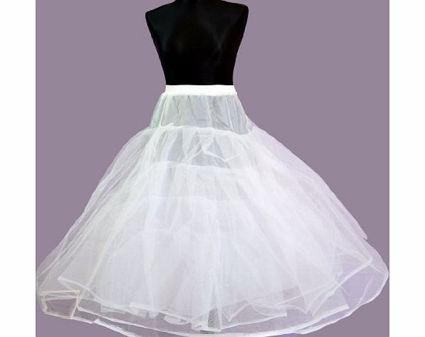 Lorembelle 4 Tier Hoopless Wedding Bridal Crinoline Petticoat underskirt with Lining