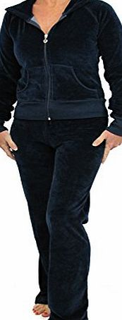 Womens Velour Tracksuits Ladies Full Luxury Lounge Suits Hoodys Joggers Heart Designer Inspired ( 12 / Medium, Baby pink )