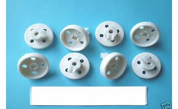 ELECTRUEPART REPLACEMENT BOSCH NEFF dishwasher lower basket wheels x 8 diam 35mm