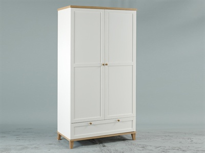 Boston 2 Door Wardrobe with Drawer Small Single