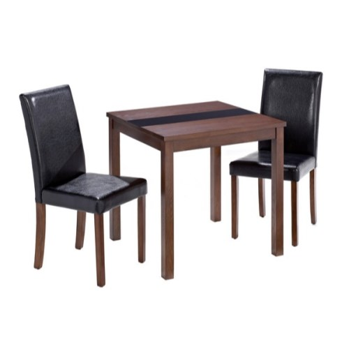 LPD Ashleigh Small Walnut Dining Set with Black