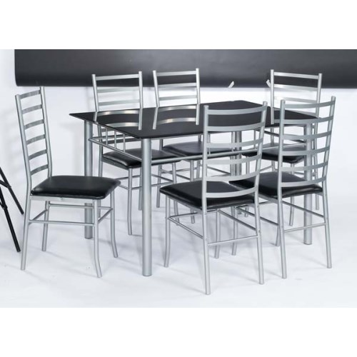 LPD Lincoln Rectangular Dining Set with Black