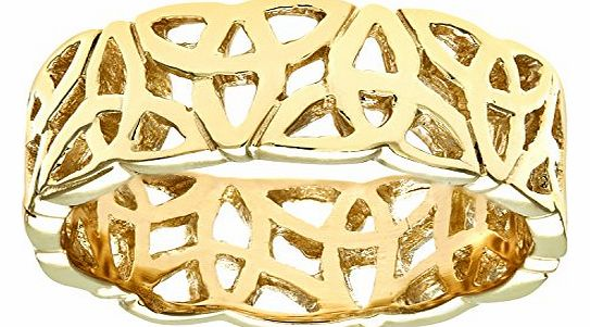 9ct Yellow Gold Band Ring Size T