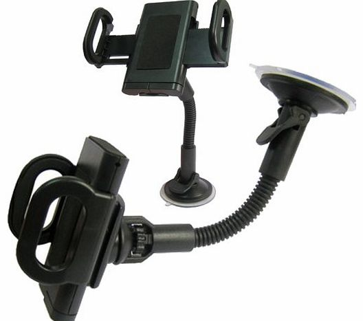 LUPO Universal Car Windscreen Suction Mount with Goosneck for Nokia, HTC, Sony, Samsung, LG, Motorola   More Mobile Phones   PDAs