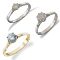 9-carat gold solitaire rings