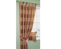 boston check pleated curtains