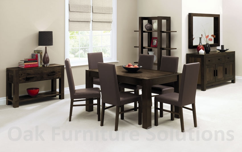 Walnut End Extension Dining Table - 150cm &