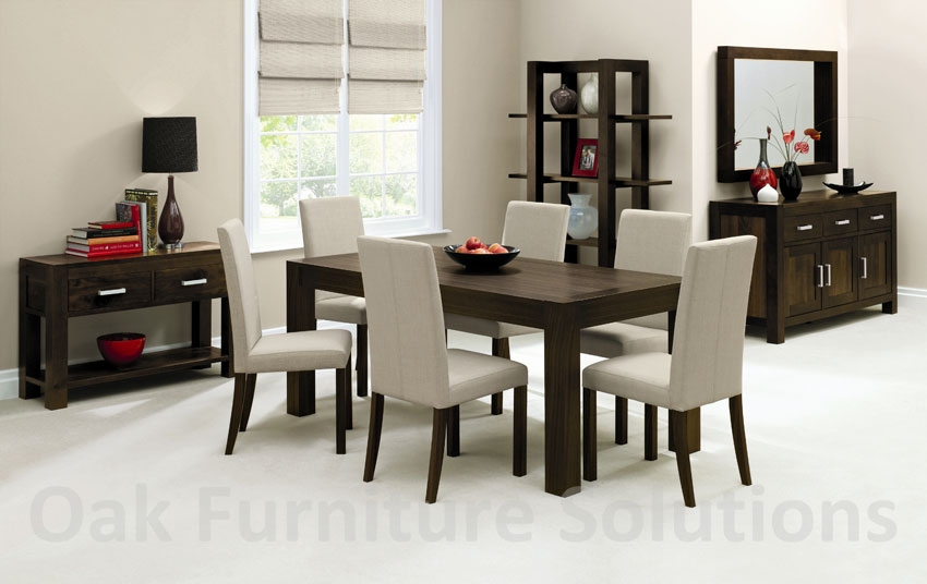 Walnut End Extension Dining Table - 180cm &
