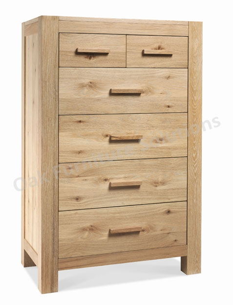 Washed Oak 4+2 Drawer Chest