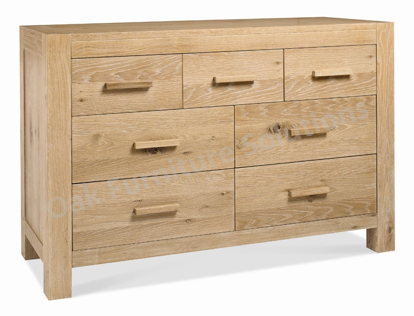 Washed Oak 4+3 Drawer Chest