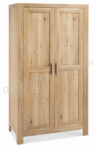Washed Oak Double Wardrobe