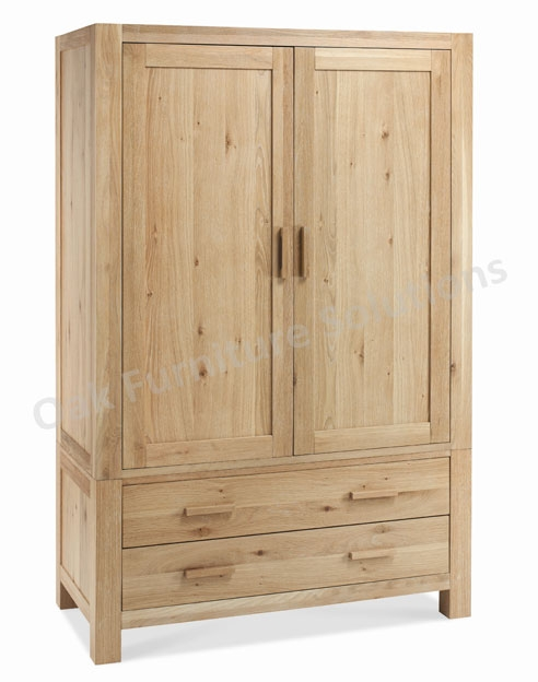 Washed Oak Large Double Wardrobe