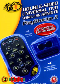 Double Sided Universal DVD Wireless Remote PS2
