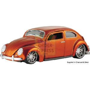 1 24 Scale V Bugz Beetle Charcoal Silver