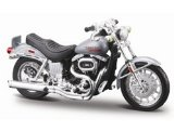 Harley Davidson FXS Low Rider (1977) in Metallic Grey (1:18 scale) Diecast Model Motorbike