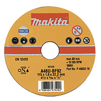 Metal Cutting Discs 115 x 1 x 22.2mm Pack of 10